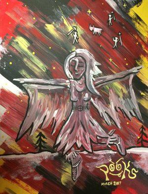 Striking painting by local artist Pauline King