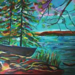 Beautiful painting by Metis artist Annette Sullivan