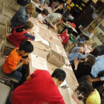 Children making Pottery, Museum of Ontario Archaeology Workshop