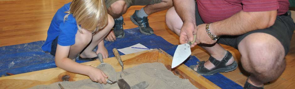 Learning how to use a trowel
