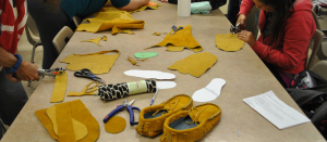 Creating Moccasins at the MOA Moccasin Workshop