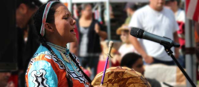 Pow Wow Drummer
