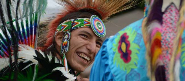 Young Man enjoying the Pow Wow