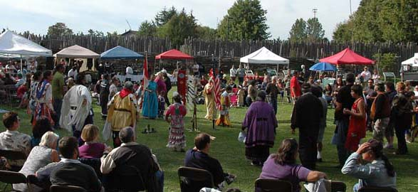 People enjoying the annual Pow Wow sponsored by MOA