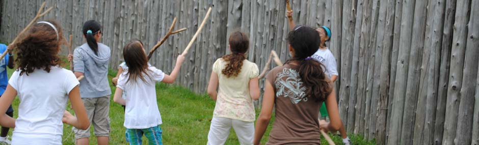 guides and scouts play native games
