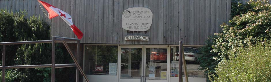 Welcome doors, Entrance to Museum of Ontario Archaeology