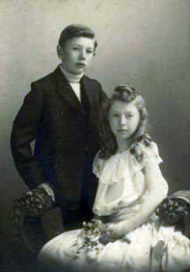 Wilfrid Jury and his sister Irene