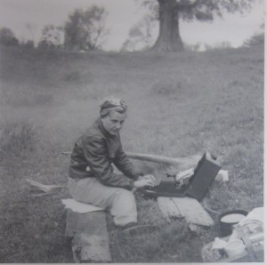 Elsie Jury Typing Notes in the Field