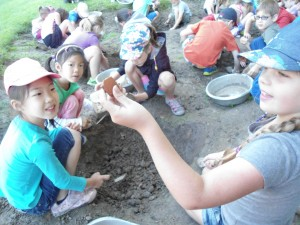 Simulated digs are really popular at the Museum of Ontario Archaeology.