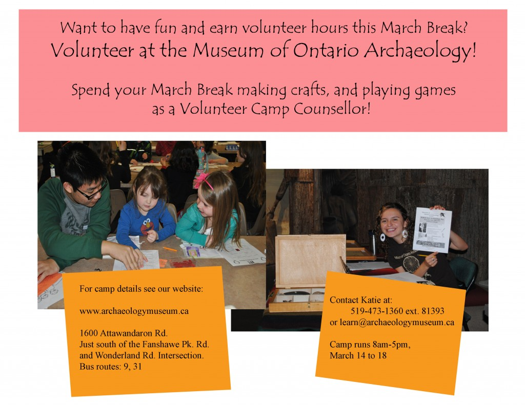 Volunteer with the museum's March Break Camp!