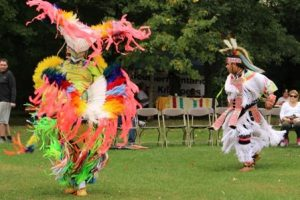 Male dancers for the 2016 Harvest Festival Pow-Wow