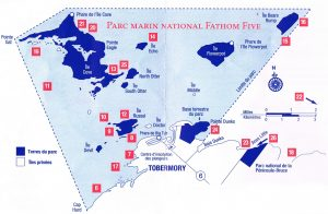 Map of Fathom Five National Park