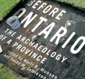 Book cover of Before Ontario. Features an excavated square