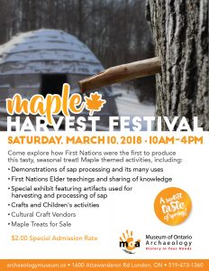 Maple Harvest Festival March 10th